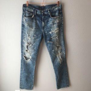 Agolde Denise High Rise Distressed Jeans Boyfriend